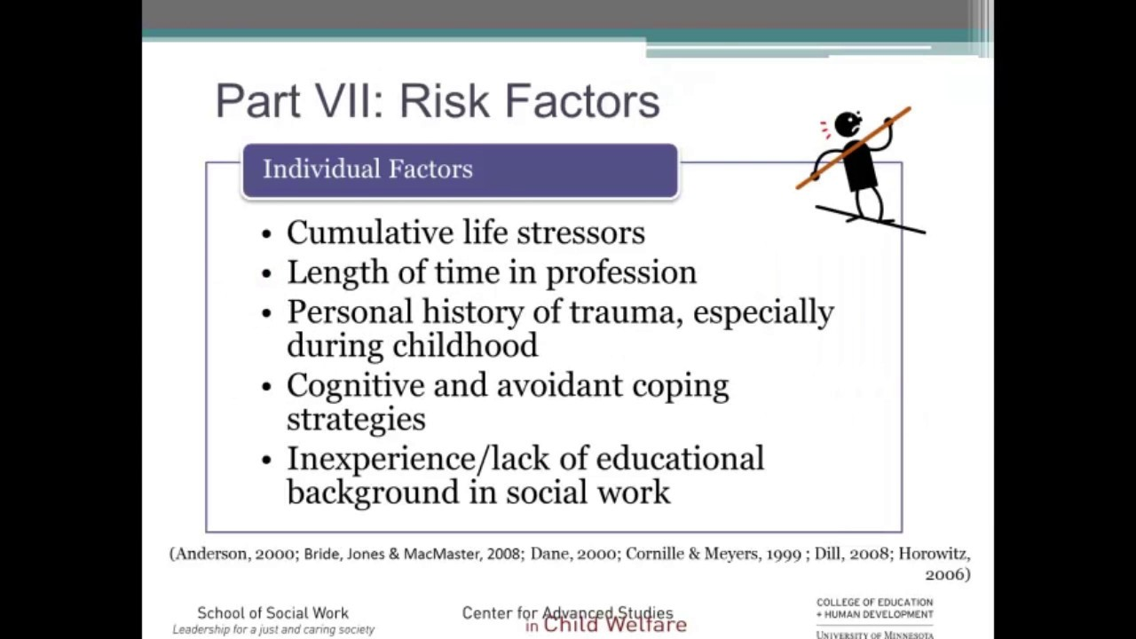 Secondary Traumatic Stress For >> Understanding Secondary Traumatic Stress In Child Welfare Youtube