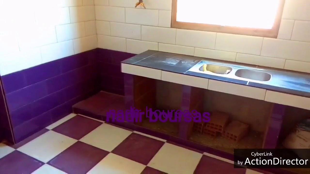 بناء المطبخ الجزائري تركيب السيراميك 0773651407 Cuisine Simple