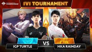 IGP.Turtle x HKA.RainDay - Rùa hóa thành tinh | Giải đấu 1v1 AIC 2019
