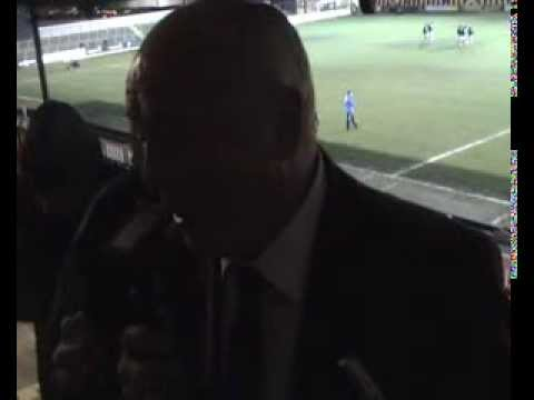 Andy King talks to BBC Radio Northampton after the win at Newport County