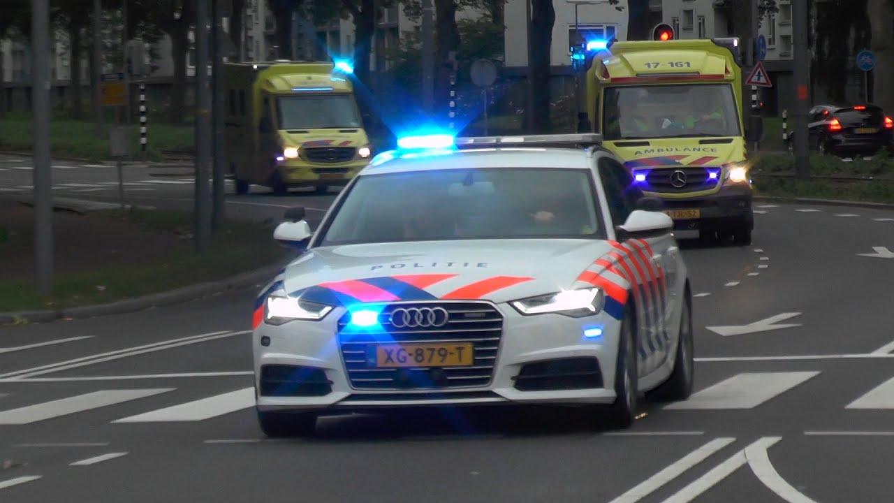 Politie zet wegen af en begeleidt ambulances naar het ziekenhuis! #1120