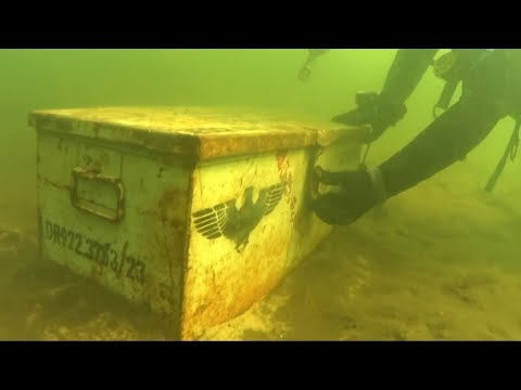 Находки под водой времен ВОВ.