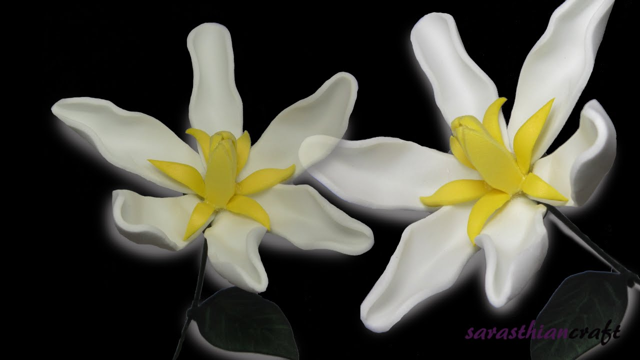 Diy Foam Flowers Gardenia Style 3 Youtube