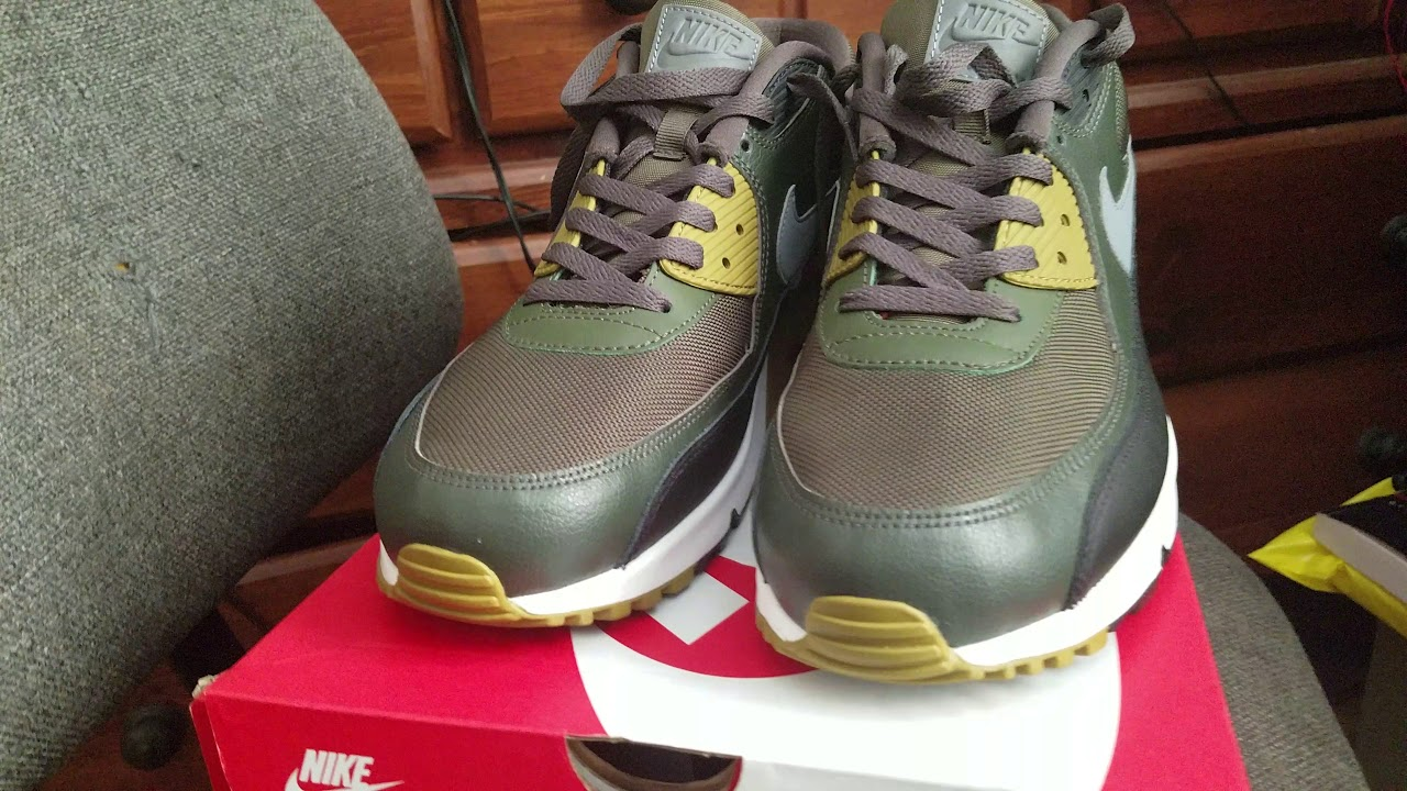 another chance 953ed a4f59 Nike Air Max 90 Essential (Cargo Khaki Cool Grey Black Sequoia)