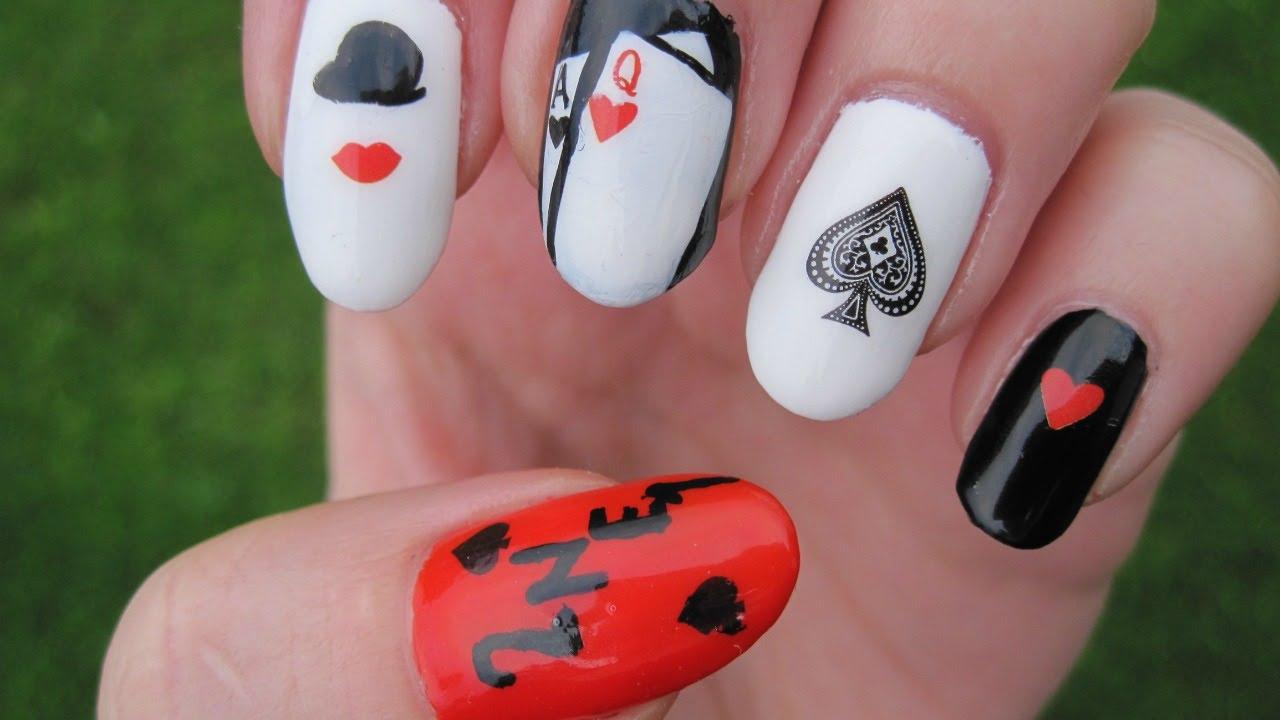 Kpop: 2NE1 Blackjack nail art (BornPrettyStore review) - YouTube