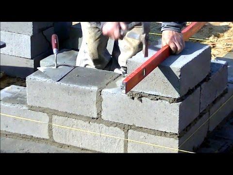 Construction D'une Maison Unifamiliale. Full HD 6ème épisode Maçonnerie Des Murs De Fondation