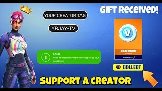 Gift V Bucks For Free | How To Set Up Fortnite Support A Creator | Gifting System Release Date