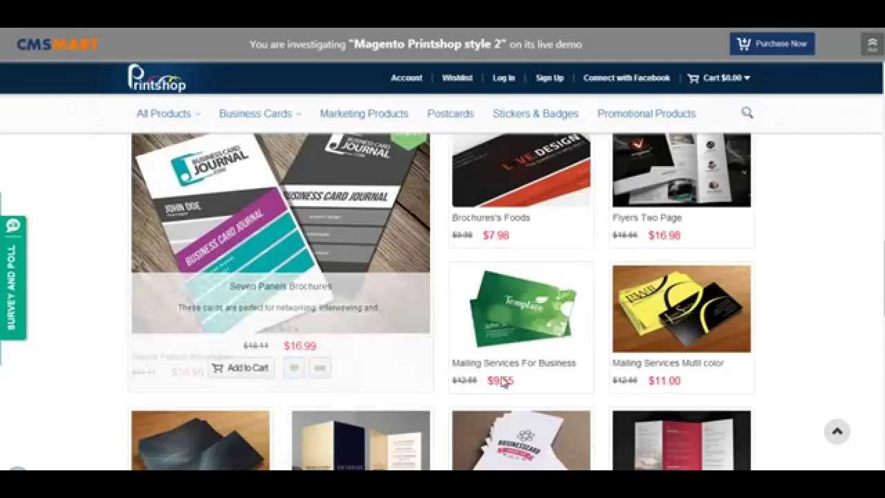Magento Printing website Theme | Magento Print shop Theme - YouTube