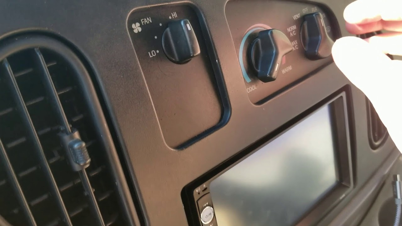 medium resolution of ac stops blowing out dash vents defrost only fix for about 10 ford econoline e250 project van