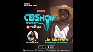 Jo Nketiah on the Crystal Beauty Show