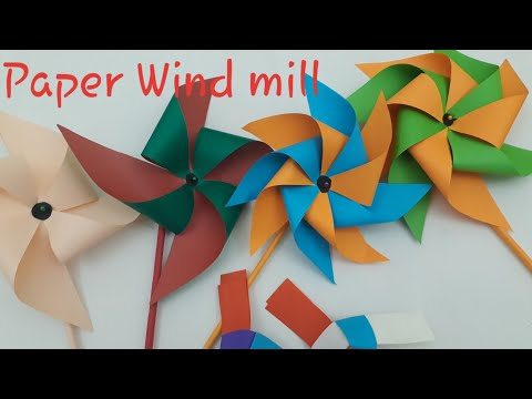 Easy paper toys for kids l how to make a paper windmill that spins