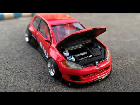 Hotwheels vw golf mk7 bmj diecast custom
