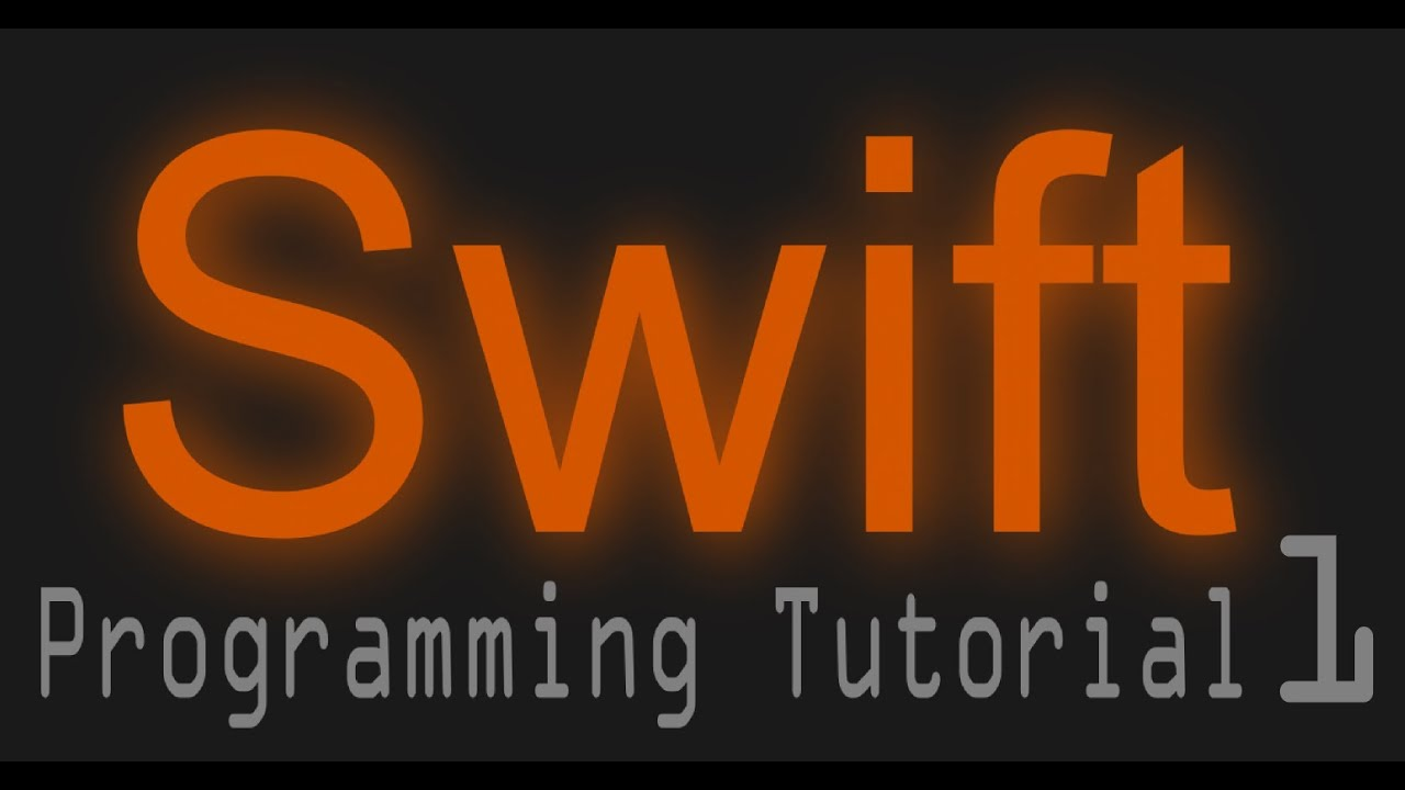Apple's Programing Lang Swift Tutorial 01