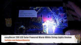 easyDecor 200 LED Solar Powered Warm White String Lights Review