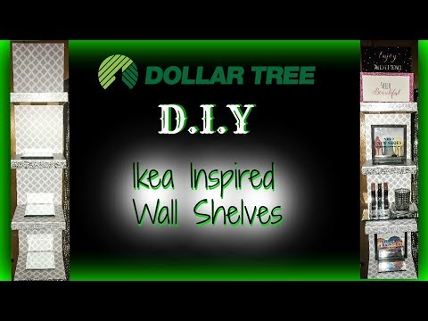 DIY DOLLAR TREE IKEA INSPIRED WALL SHELVES
