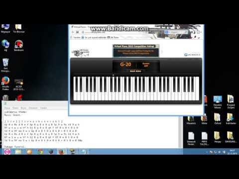 Virtual Piano-Trying play naruto sad song ^^