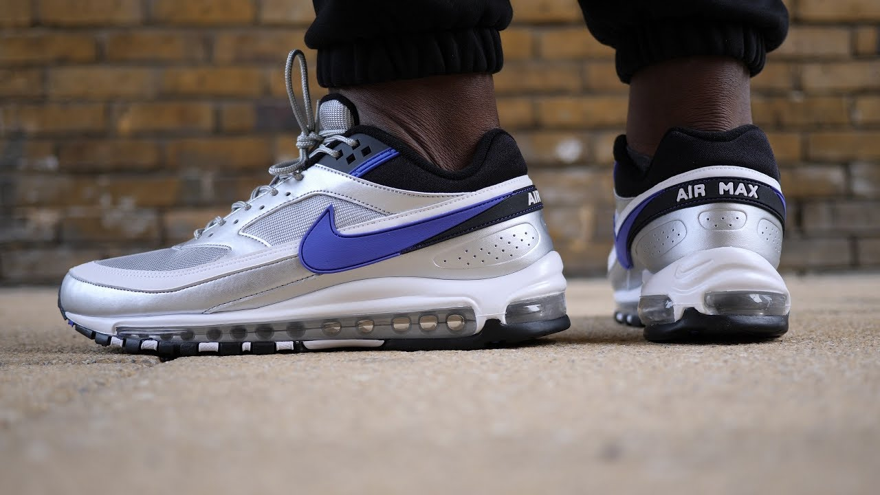 Best Nike Hybrid? Air Max 97/BW Quick Look + On Feet (Metallic  Silver/Persian Violet)
