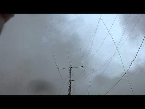 STEPPIR in storm force winds, CX2AL, Montevideo, 18.09.2012