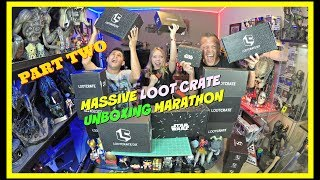 MASSIVE LOOT CRATE UNBOXING MARATHON PART TWO | Guru Reviews