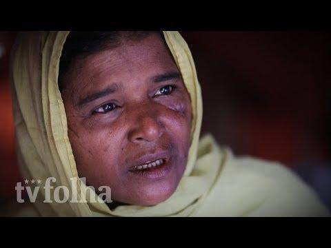 Rohingya fogem de horrores em Mianmar para campos precários