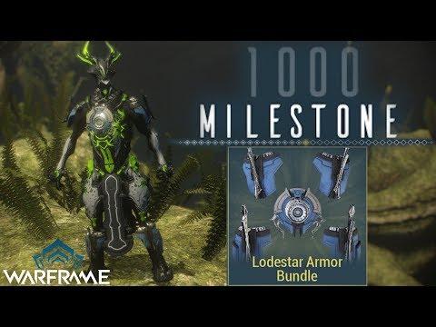 Warframe | 1000th Daily Tribute Milestone (Lodestar Armor Bundle) thumbnail