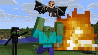Top Flying Monster School - Minecraft Animation