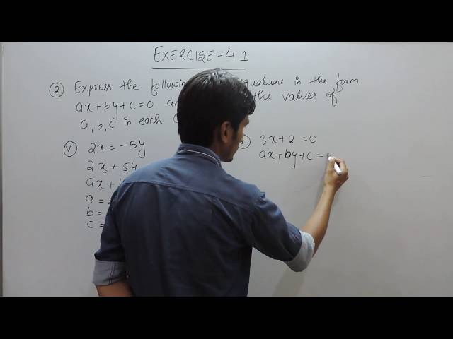 chapter 4 exercise 4.1 Q 2(v,vi) - Linear Equations in Two Variables class 9 maths ncert solutions