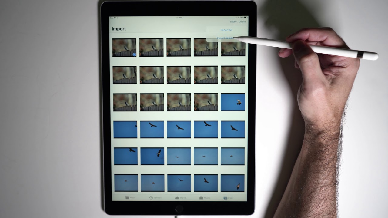 Import Raw Photos In Lightroom CC on an iPad