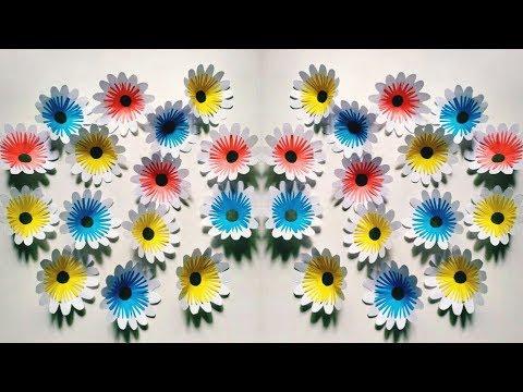 Paper Flowers & Easy Crafts idea   Guldasta Flowers Tutorial   Handmade Flower for Wall Decorations