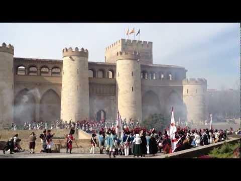 Recreación Histórica Los Sitios de Zaragoza Combates en Castillo de la Aljafería