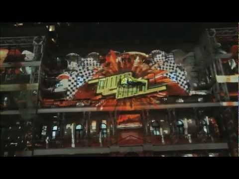 4d Projection - 'Hot Wheels: Secret Race' - Customs House, Sydney, Australia