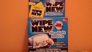 WIPE NEW HEADLIGHT RESTORE - Does it Really Work?