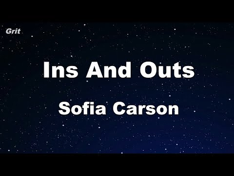 Ins and Outs - Sofia Carson Karaoke 【With Guide Melody】 Instrumental