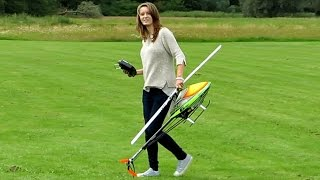 JENNY BRANDT (18) WITH THE MODEL HELICOPTER COMPASS 550 3D AEROBATICS / Taiga Meeting 2014