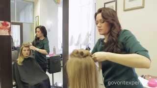 Стильная Укладка на Длинные Волосы. Демонстрация Укладки. Укладка в Стиле Софи Лорен.Говорит ЭКСПЕРТ