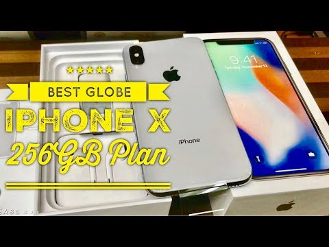 The Best Globe Iphone X 256GB Plan Globe ICONIC Store BGC Central Square Manila Unboxing