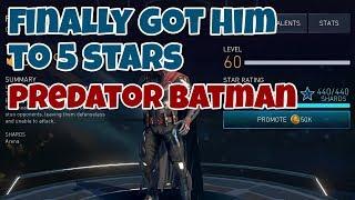 Injustice 2 Mobile | Predator Batman Gameplay | Promote to 5 Stars