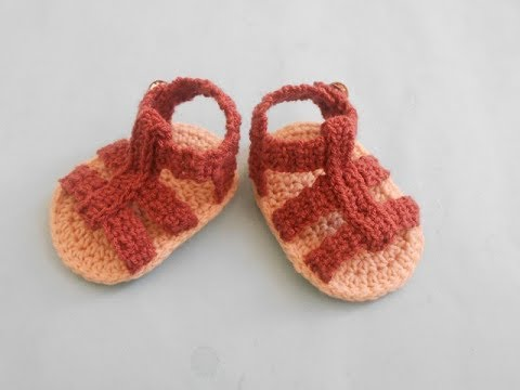 Crochet Baby Sandals Video Tutorial Youtube