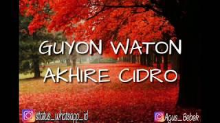 Gambar cover Guyon Waton Akhire Cidro Lirik