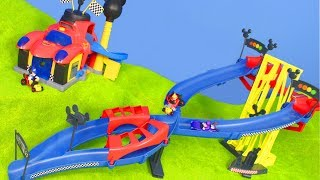 MICKY MAUS Wunderhaus: Roadster Racers Spielzeugautos für Kinder | Disney Autos Unboxing deutsch