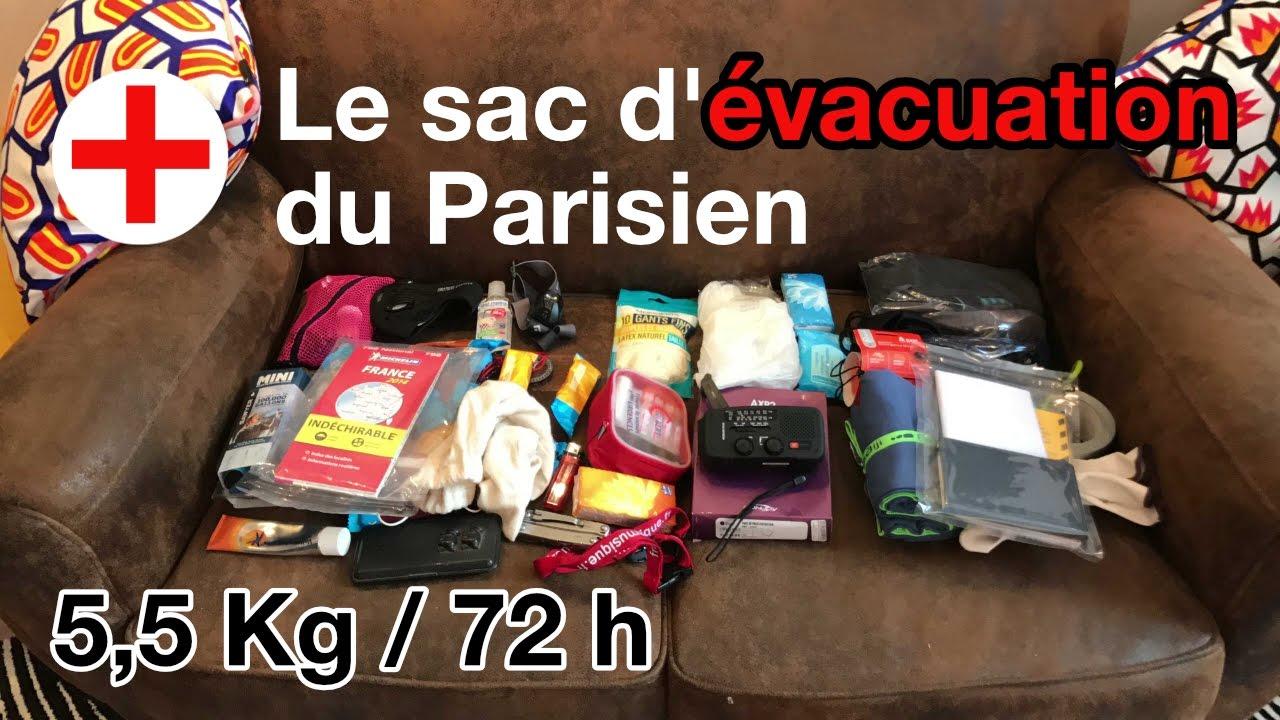 Le sac d evacuation du parisien dition 2017 youtube - Sac d evacuation ...