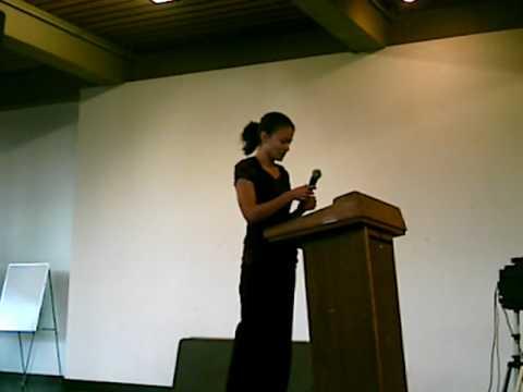 Rosa Martinez introduces Ana Castillo at UC Berkeley