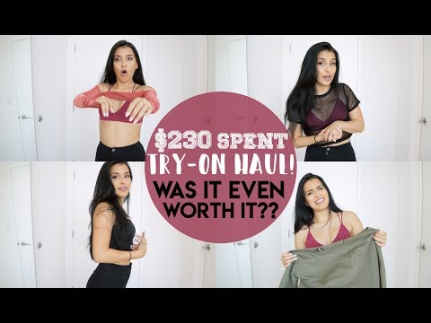 I SPENT $230 ON PRETTYLITTLETHING.... WORTH IT?? 🙄 | TRY-ON CLOTHING HAUL 2017