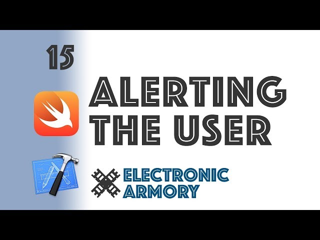 UIAlertController iOS Swift - Alerting and Asking the User Tutorial