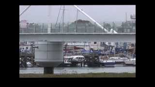 Shoreham By Sea, Riverside With Houseboats And New Footbridge