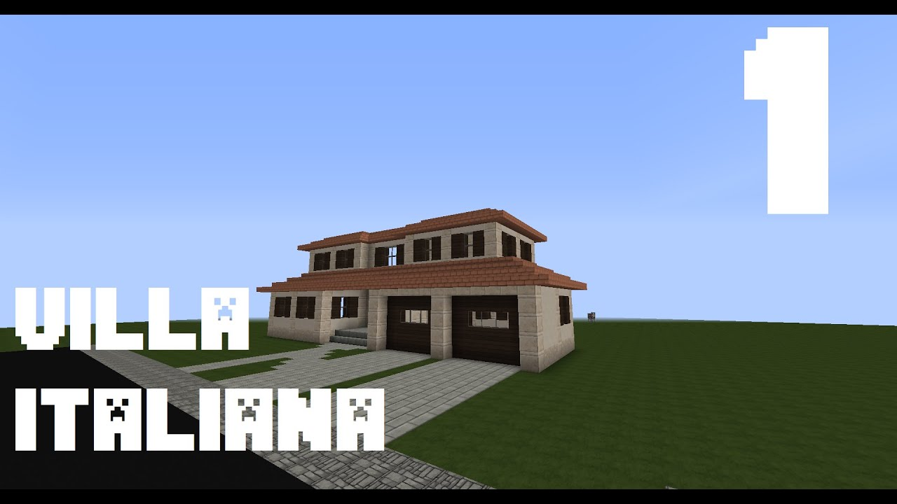 Minecraft tutorial come costruire una villa italiana for Come costruire una villa