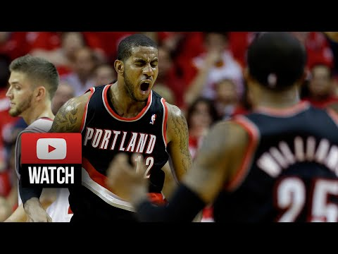LaMarcus Aldridge Full Highlights at Rockets 2014 Playoffs West R1G1 - 46 Pts, 18 Reb