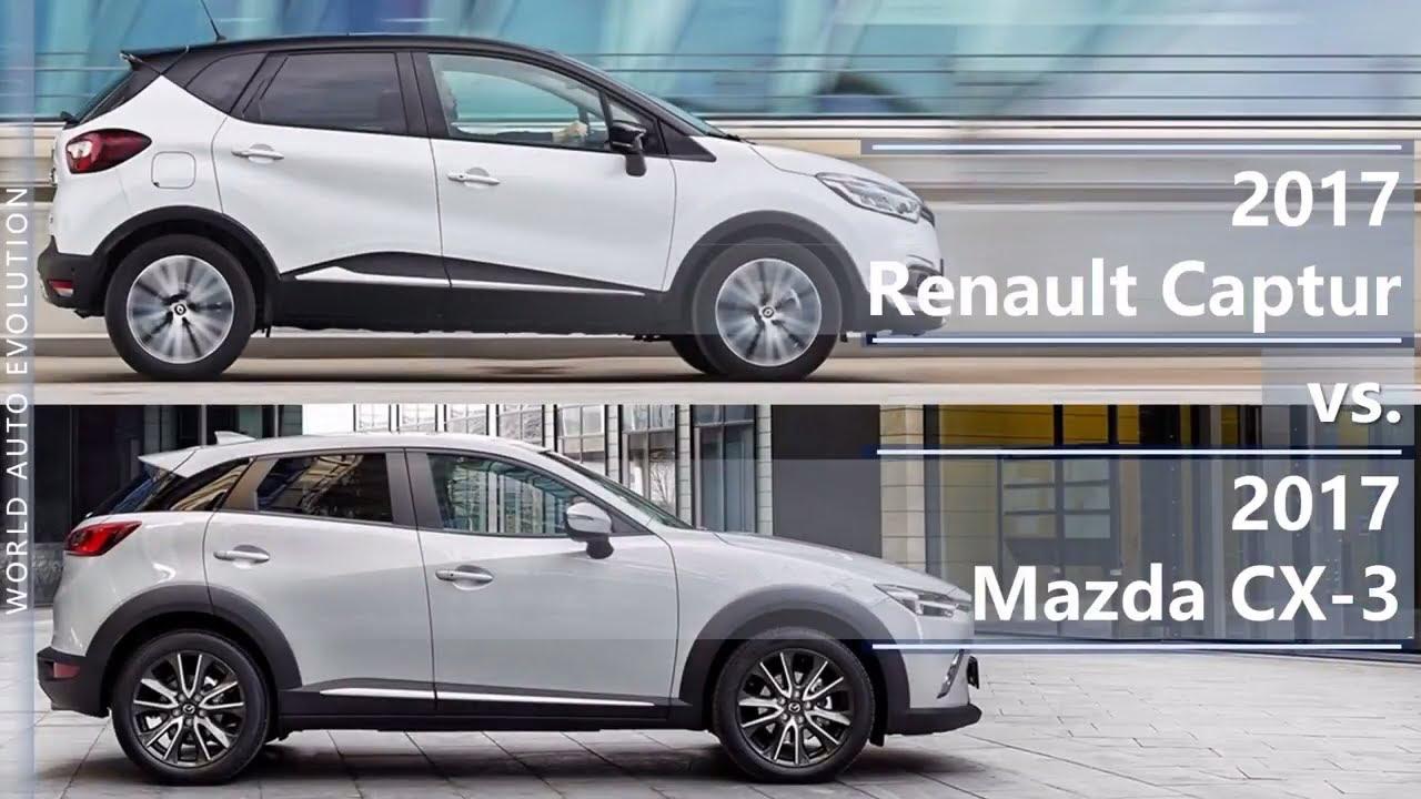 2017 Renault Captur Vs Mazda Cx 3 Technical Comparison