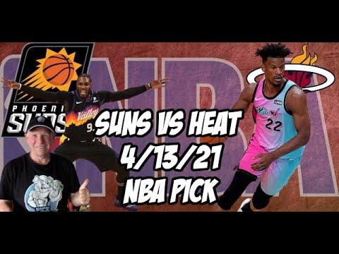 Phoenix Suns vs Miami Heat 4/13/21 Free NBA Pick and Prediction NBA Betting Tips