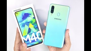 Samsung Galaxy M40 Unboxing & Hands on Review - 6GB RAM Seawater Blue Color | Camera Samples 🔥